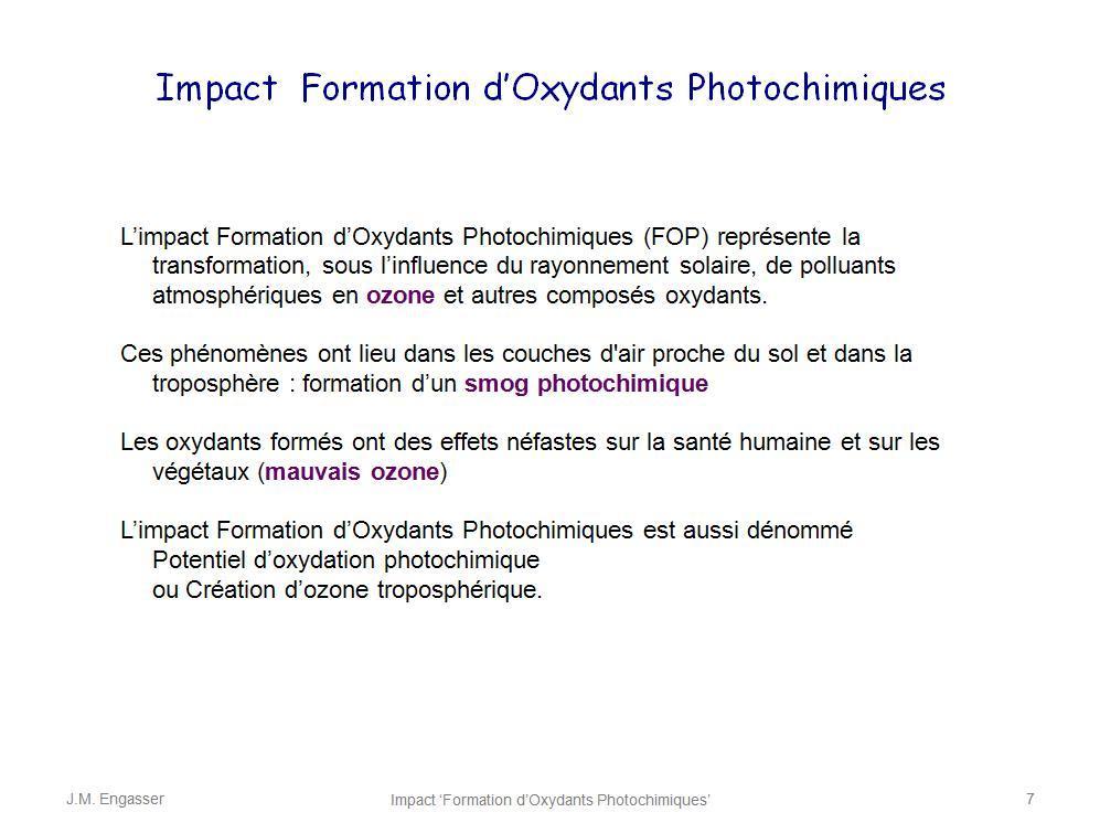 Oxydants photochimiques agents d 39 oxydation photochimique - Couche d ozone en anglais ...